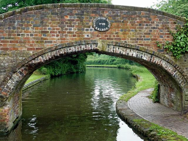 Whittington Horse Bridge in Staffordshire by Roger  Kidd