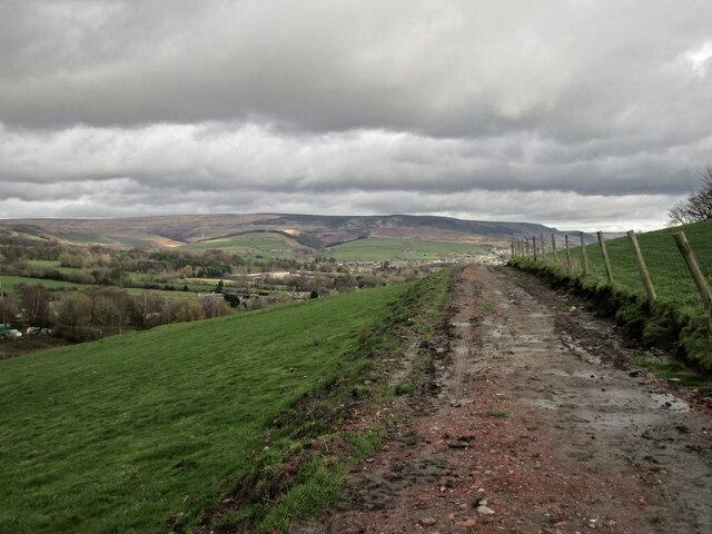Track to Mottram Cemetery