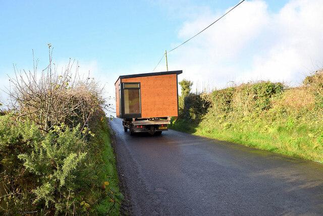 A wide load along Dunnamona Road