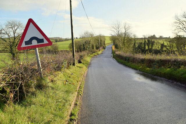 Sign for bridge ahead on Dunnamona Road