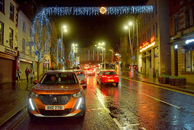 Christmas lights, Omagh 2020