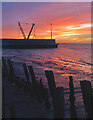 TA1128 : Foreshore and dock, Hull by Paul Harrop