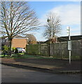 SO4007 : Usk Road bus stop, Raglan, Monmouthshire by Jaggery