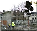 SJ8498 : Demolition of the Piccadilly Wall by Gerald England