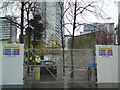 SJ8498 : Piccadilly Wall demolition site by Gerald England