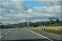 NZ0565 : Ovington : A69 by Lewis Clarke