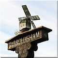 TM0081 : Garboldisham village sign by Adrian S Pye
