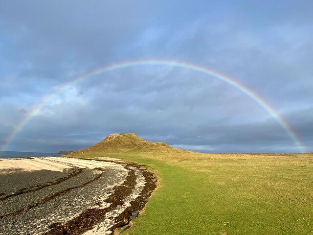 Rainbow over Cnoc Mòr a' Ghrobain