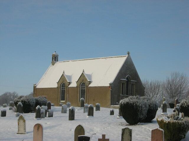 Eckford Church in Winter