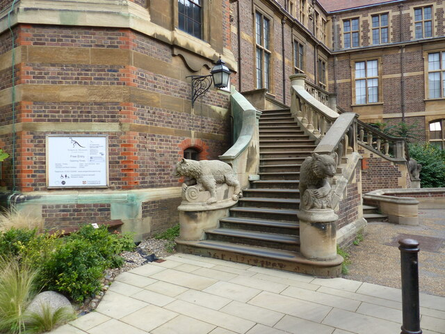 Steps at the entrance to the Sedgwick Museum of Earth Sciences, Cambridge