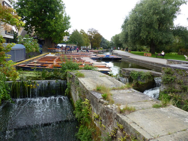 River Cam punting centre at Mill Pit, Cambridge