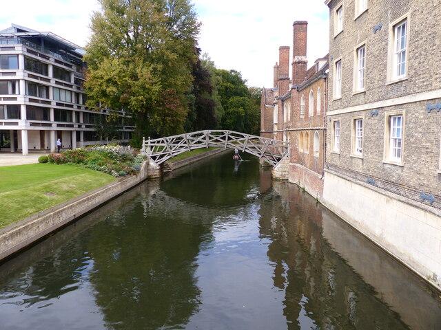 "The ""Mathematical"" Bridge, Cambridge, from Silver Street bridge"