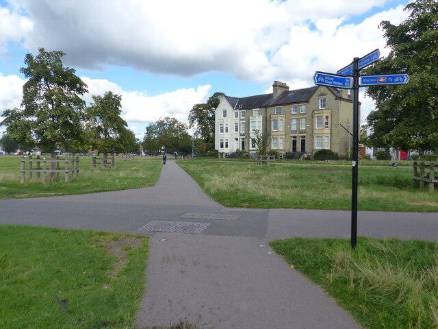 Path junction, Midsummer Common, Cambridge