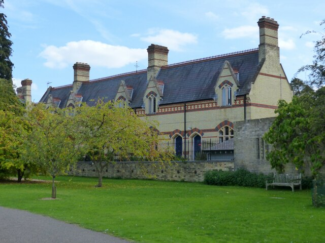 The Royal Albert Homes seen from Cambridge University Botanical Garden