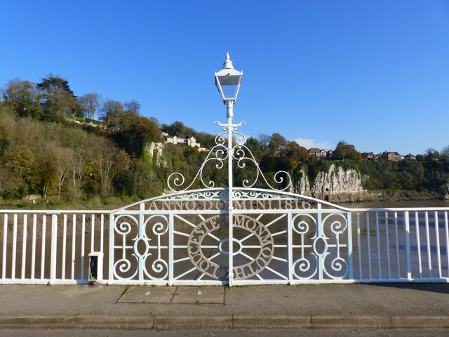 Chepstow Bridge - with a national boundary