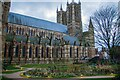SK9771 : The Dean's Green, Lincoln Cathedral by Oliver Mills