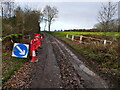 TG3127 : Traffic sign and barriers by David Pashley