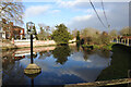 TG1106 : Wramplingham village sign in the millpond by Adrian S Pye