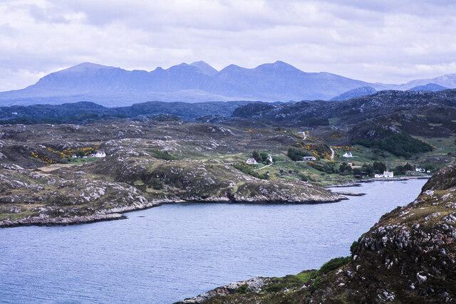 Rocky shore of Loch Kirkaig