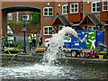 SO8171 : Canal re-oxygenation at Stourport #1, Worcestershire by Roger  Kidd