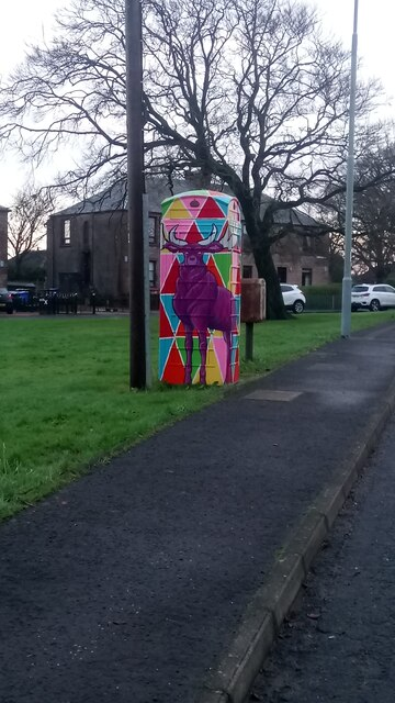 A Very Bright Telephone Box, Harburn Road, West Calder by Ian Dodds