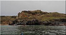 NJ1570 : Low cliffs outside the west side of Clashach Cove by Nigel Feilden