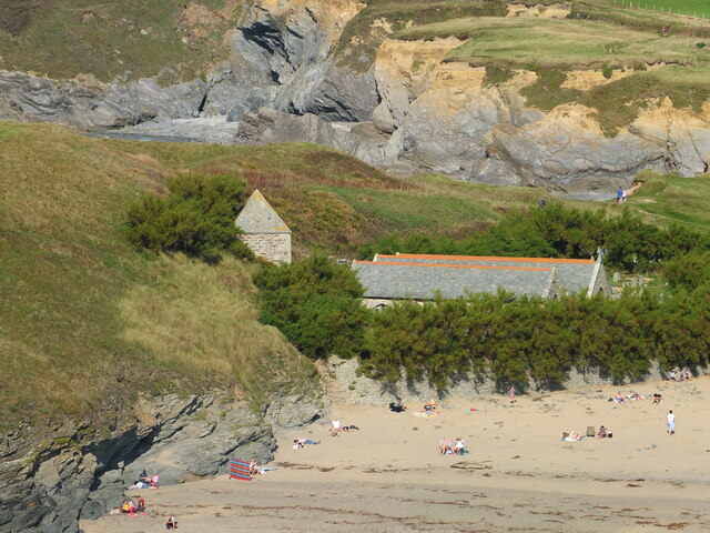 St Winwallows from the cliffs South of Church Cove