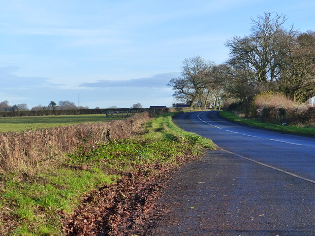 The B4245 looking towards Chepstow