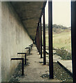 SS8577 : Structure at disused rifle range below Wig Fach in the 1980s by eswales