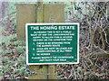 TG3227 : Honing Estate sign by David Pashley