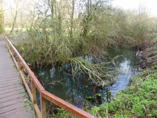 Footbridge over the Nedern Brook, Caldicot Country Park