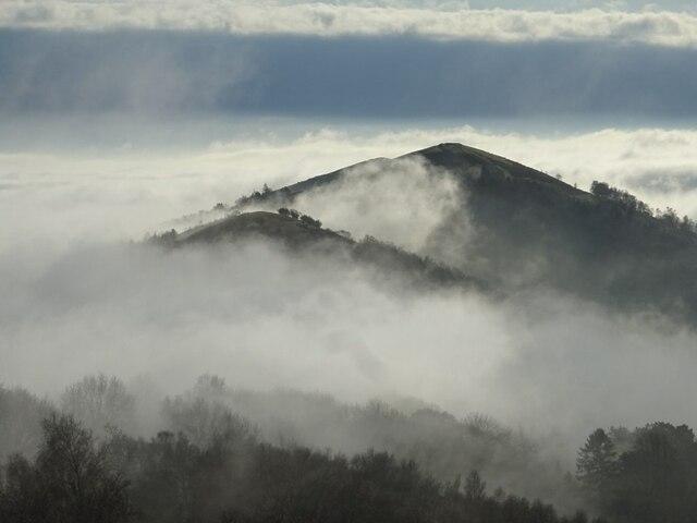 The Malvern Hills in fog