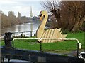 SO8453 : A swan-shaped flowerbed by Philip Halling