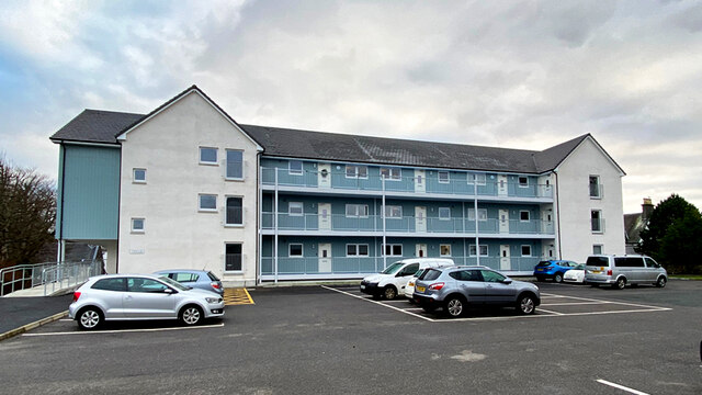 New apartments on Park Road, Portree