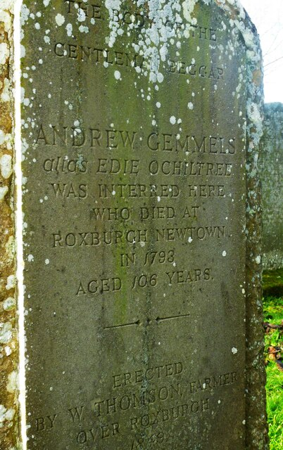 Andrew Gemmels who died in 1793.