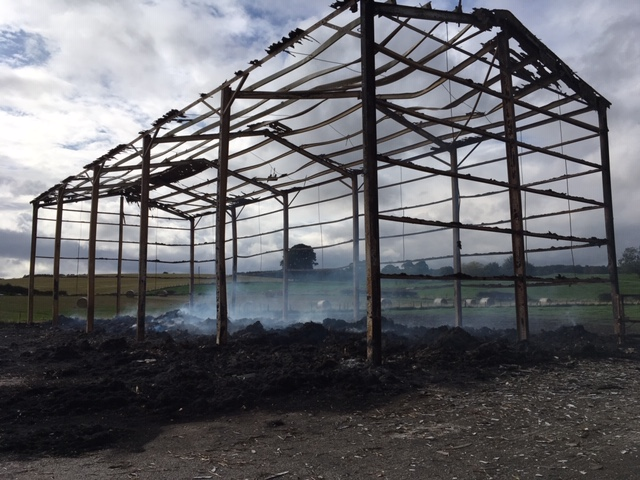 Fire at Ormiston Mains