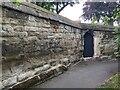 SP2865 : Eroded stone wall, St Mary's churchyard, Warwick by Robin Stott