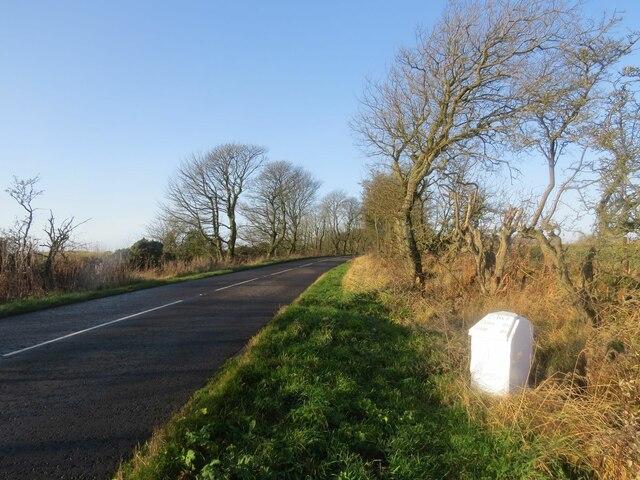 Milestone on B940 near West Lingo