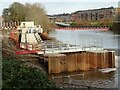 SO8453 : Construction of Diglis fish ladder by Philip Halling