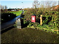 ST4286 : Two bins in a corner of Main Road Car Park, Undy, Monmouthshire by Jaggery