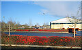 SP2807 : Red Hedges in the Business Park by Des Blenkinsopp