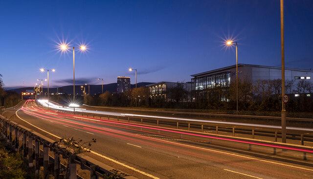 The M3 motorway, Belfast