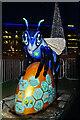 SJ8097 : Bee in the City #91, Blue Bee-ter at MediaCityUK by David Dixon