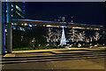 SJ8097 : Christmas Display at MediaCityUK by David Dixon