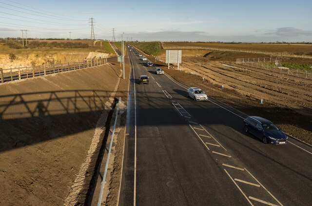 Newly opened Lincoln Eastern Bypass (A15)