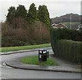 ST3090 : Bilingual litter bin on a Malpas corner, Newport by Jaggery