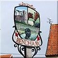 TM3464 : Rendham village sign by Adrian S Pye