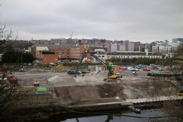 Building work by the Aire