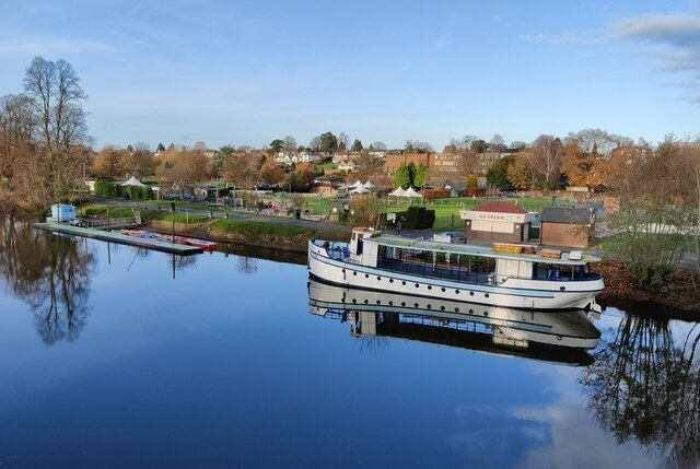 The River King moored along the River Severn