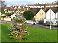 ST5393 : Christmas Day 2020 - Christmas Tree on the green, Chepstow Garden City by Ruth Sharville